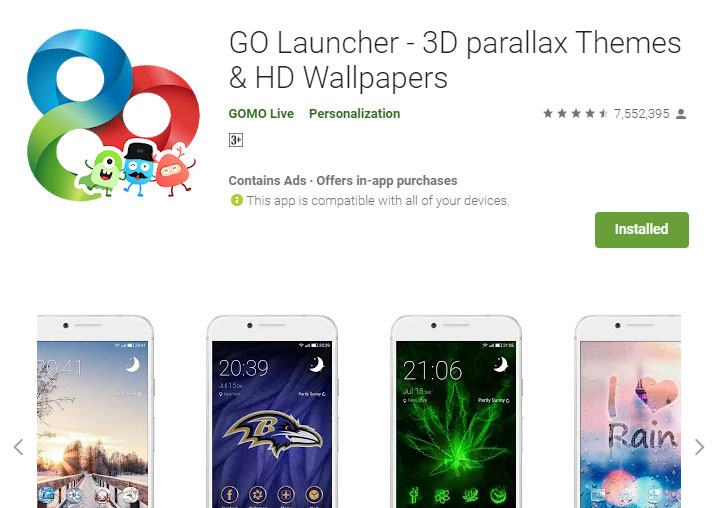 تطبيق Go Launcher