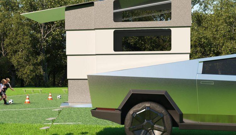 شاهد مركبة التخييم الباهظة والمصممة حصراً لسيارة Cybertruck من تسلا